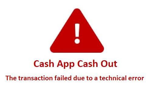 Cash App Cash Out Failed